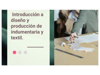 Introducción a diseño y producción de indumentaria y textil
